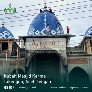 Contoh Gambar Kubah Enamel Landasan/lonjong